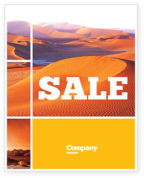 Nature & Environment: Red Desert Sale Poster Template #02728