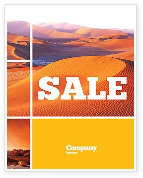 Red Desert Sale Poster Template, 02728, Nature & Environment — PoweredTemplate.com