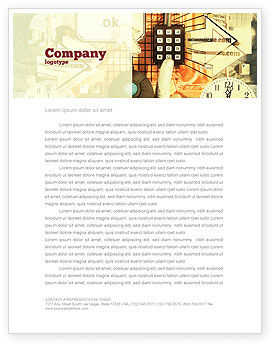 Technology, Science & Computers: Computer Universe Letterhead Template #02730