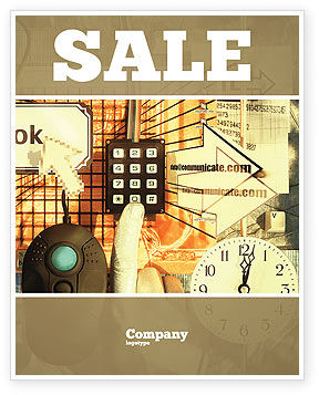Technology, Science & Computers: Computer Universe Sale Poster Template #02730