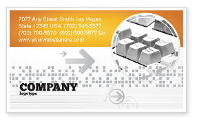 Technology, Science & Computers: Gray Keyboard Business Card Template #02733