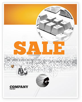 Technology, Science & Computers: Gray Keyboard Sale Poster Template #02733