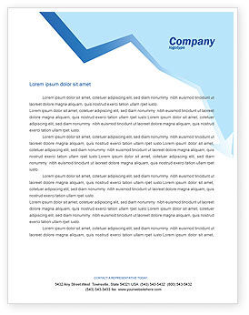 Edge Letterhead Template, 02735, Consulting — PoweredTemplate.com