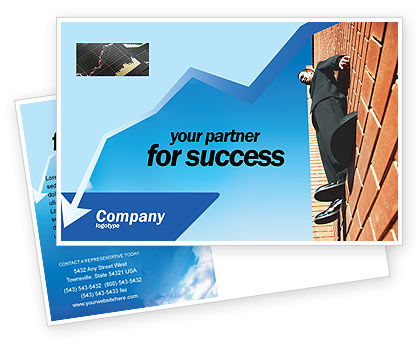 Edge Postcard Template, 02735, Consulting — PoweredTemplate.com