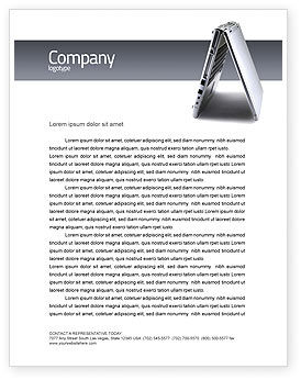 Technology, Science & Computers: Portable Computer Letterhead Template #02736