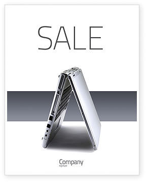 Portable Computer Sale Poster Template, 02736, Technology, Science & Computers — PoweredTemplate.com