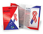 Holiday/Special Occasion: Patriot Ribbon Brochure Template #02739