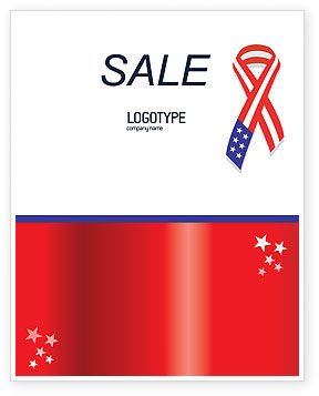 Holiday/Special Occasion: Patriot Ribbon Sale Poster Template #02739