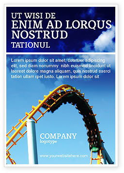 Art & Entertainment: Roller Coaster Ad Template #02740