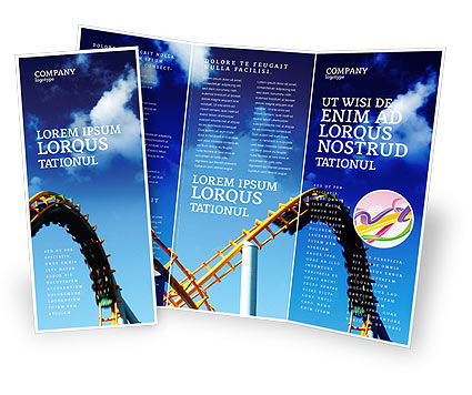 Art & Entertainment: Roller Coaster Brochure Template #02740