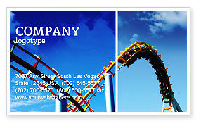 Art & Entertainment: Roller Coaster Business Card Template #02740