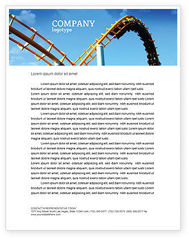 Art & Entertainment: Roller Coaster Letterhead Template #02740