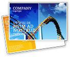 Art & Entertainment: Roller Coaster Postcard Template #02740