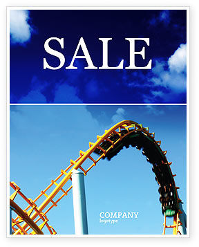 Art & Entertainment: Roller Coaster Sale Poster Template #02740