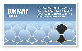 Careers/Industry: 自分の視点 - 名刺テンプレート #02744