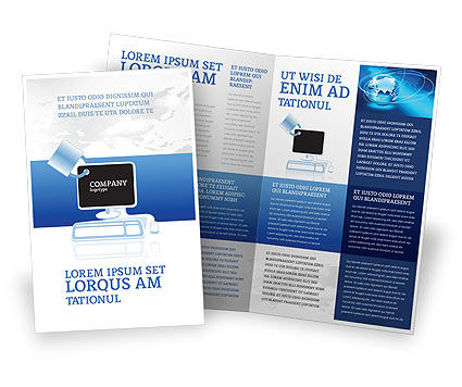 Computer shield software brochure template design and for Software for designing brochures