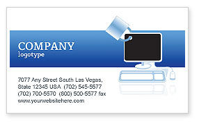 Consulting: Computer Shield Software Business Card Template #02745