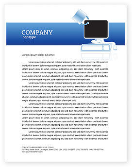 Consulting: Computer Shield Software Letterhead Template #02745
