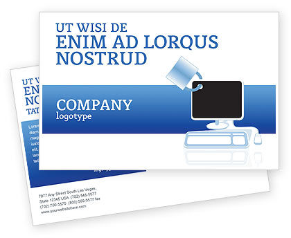 Consulting: Computer Shield Software Postcard Template #02745