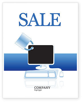 Computer Shield Software Sale Poster Template