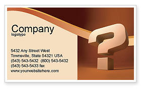 Question Mark In 3D Business Card Template, 02749, Consulting — PoweredTemplate.com