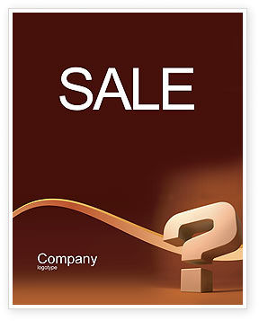 Consulting: Question Mark In 3D Sale Poster Template #02749