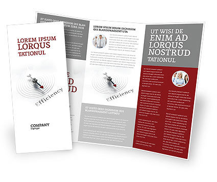 Efficiency Brochure Template, 02750, Business Concepts — PoweredTemplate.com
