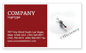Business Concepts: Efficiency Business Card Template #02750