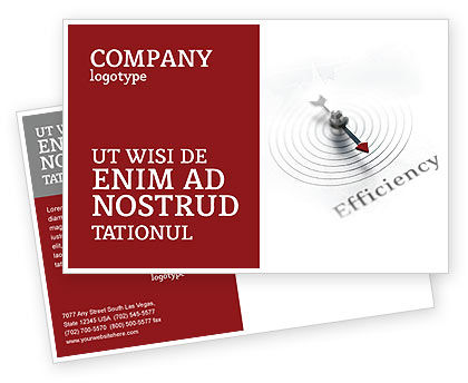 Business Concepts: Efficiency Postcard Template #02750