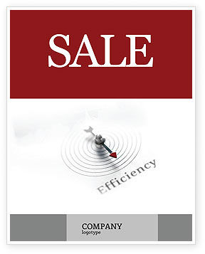 Business Concepts: Efficiency Sale Poster Template #02750