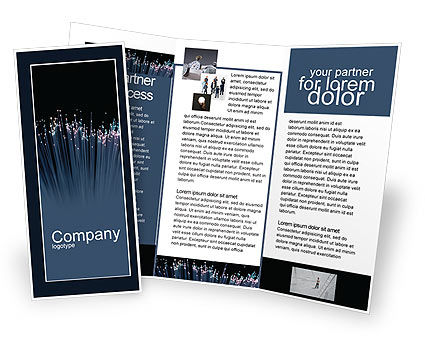 Telecommunication: Optic Fiber Brochure Template #02753