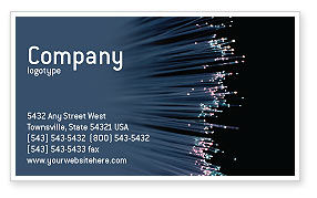 Telecommunication: Optic Fiber Business Card Template #02753