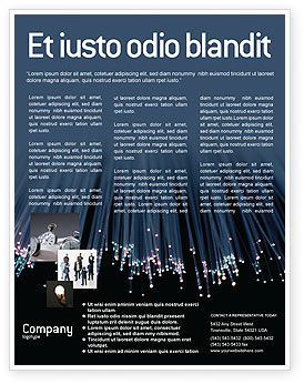 Telecommunication: Templat Flyer Serat Optik #02753