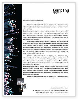 Telecommunication: Optic Fiber Letterhead Template #02753