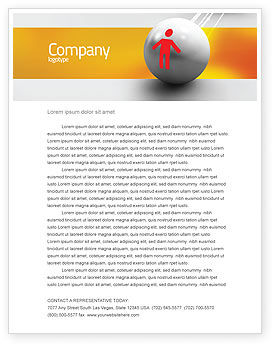 Business Concepts: Relation Letterhead Template #02754