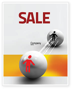 Business Concepts: Relation Sale Poster Template #02754