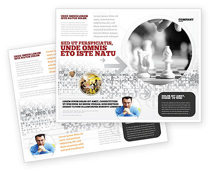 Strategic Position Brochure Template, 02755, Sports — PoweredTemplate.com