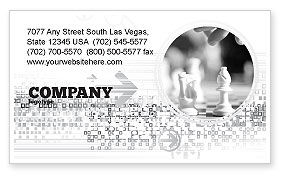 Sports: Strategic Position Business Card Template #02755