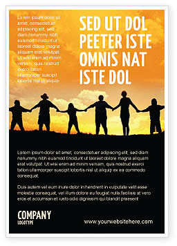 Religious/Spiritual: Familie Advertentie Template #02761