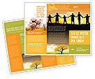Religious/Spiritual: Modèle de Brochure de famille #02761