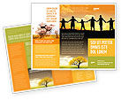 Religious/Spiritual: Plantilla de folleto - familia #02761