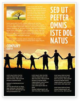 Religious/Spiritual: Modelo de Folheto - família #02761