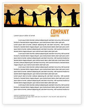 Family Letterhead Template, 02761, Religious/Spiritual — PoweredTemplate.com