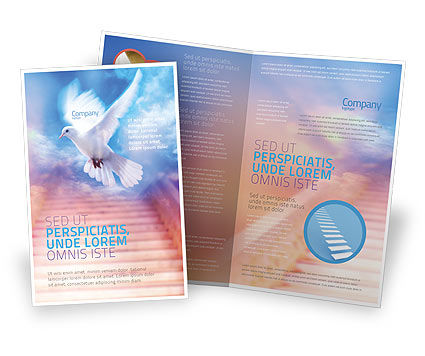 Holy Benediction Brochure Template, 02764, Religious/Spiritual U2014  PoweredTemplate.com