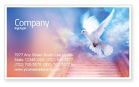 Religious/Spiritual: Holy Benediction Business Card Template #02764