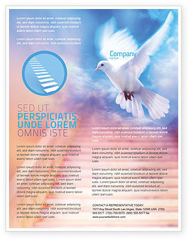 Religious/Spiritual: Holy Benediction Flyer Template #02764