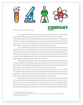 Natural Sciences Letterhead Template, 02780, Education & Training — PoweredTemplate.com