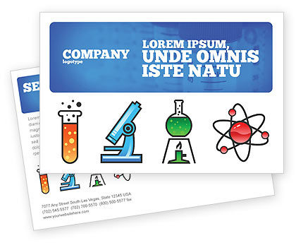 Education & Training: Natural Sciences Postcard Template #02780