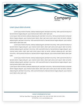 Aqua Blue Wires Letterhead Template, 02781, Telecommunication — PoweredTemplate.com