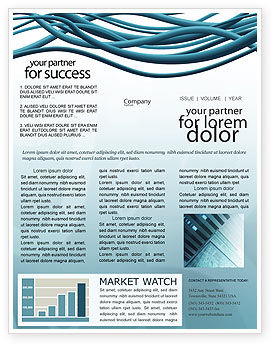 Telecommunication: Aqua Blue Wires Newsletter Template #02781